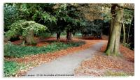 Autumnal walk in the park, Acrylic Print