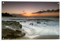 Sunset over the Rocks, La Arena, Tenerife, Acrylic Print