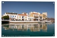 Harbour at Agios Nikolaus, Acrylic Print