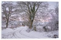 Winter lane, Acrylic Print