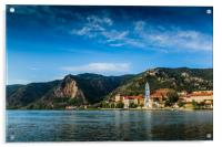 Durnstein along the Danube River in the picturesqu, Acrylic Print