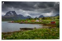 Lofoten in Norge, Acrylic Print