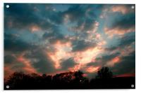 Red Sky at Night, Acrylic Print