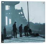 Medway Bridge Construction, Acrylic Print