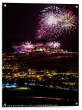 Stirling Castle Fireworks, Acrylic Print