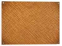 Vintage Natural Brown Leather Texture Background, Acrylic Print