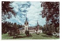 Neo-Renaissance Peles Castle Built In 1873 In Carpathian Mountai, Acrylic Print