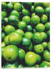 Lime Citrus Fruits In Fruit Market, Acrylic Print