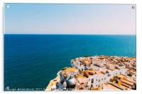 Aerial Panoramic View From Papa Luna Castle Of Pen, Acrylic Print