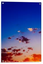 Beautiful Blue And Orange Tranquil Summer Sunset B, Acrylic Print