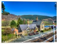 Carrog Railway Station, Acrylic Print
