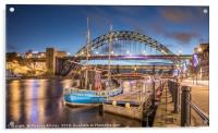 The Tyne Bridge at Newcastle, Acrylic Print