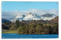 The Langdale Pikes Lake District, Acrylic Print