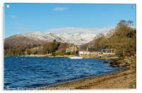 Windermere and the Fairfield Horseshoe Cumbria, Acrylic Print