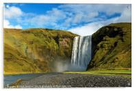 Skogafoss Waterfall Iceland, Acrylic Print