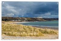 Port Eynon Beach Gower Peninsula South Wales, Acrylic Print