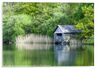 The Boathouse Rydal Water Lake District, Acrylic Print