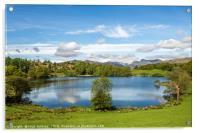 Loughrigg Tarn Lake District in Spring, Acrylic Print