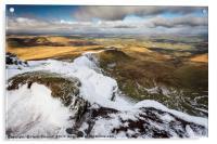 A Snowy Brecon Beacons, Acrylic Print