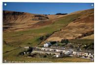 Cwmparc in the Rhondda Fawr Valley south Wales UK, Acrylic Print