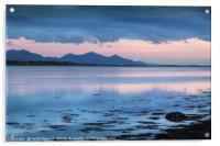 Llyn Peninsular Mountain Outline, Acrylic Print