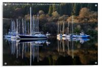 Crinan Canal yachts, Acrylic Print