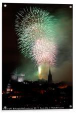 Edinburgh Festival Fireworks from Salisbury Crags, Acrylic Print