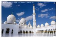 Inner Courtyard of Grand Mosque Abu Dhabi, Acrylic Print