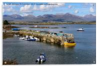 View across Roundstone harbour, County Galway, Acrylic Print