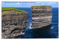 Sea cliffs Downpatrick Head, County Mayo, Ireland, Acrylic Print