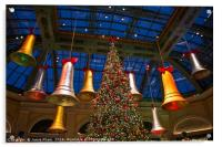 The magical holiday seasonal display in Bellagio, Acrylic Print