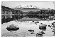 A dramatic view of Mount Shasta from Lake Siskiyou, Acrylic Print