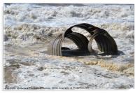 Sea Foam at Mary's Shell, Acrylic Print