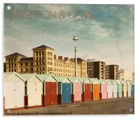 Brighton & Hove - Retro style, Acrylic Print