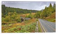 Road Bridge Over Easter Fearn Burn, Acrylic Print