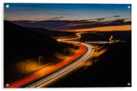 M62 Light Trails , Acrylic Print