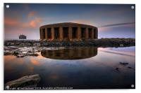 Aberthaw Power Station Water outlet, Acrylic Print
