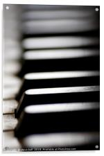 Old piano keys close up, Acrylic Print
