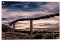 fence on the hilly, Acrylic Print