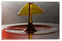 golden water drop, Acrylic Print