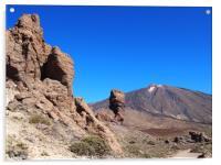 mountains and rocks tenerife , Acrylic Print