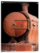 old rusting locomotive , Acrylic Print