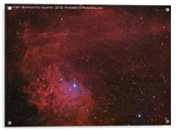 Flamin Star nebula (IC 405) in the constellation A, Acrylic Print