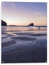 Portreath sunset, Acrylic Print