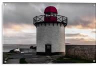 The Lighthouse at Burry Port, Carmarthenshire., Acrylic Print