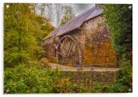 The Water Wheel at Dyfi Furnace., Acrylic Print