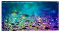 Drops of water lit from below , Acrylic Print