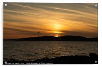 Portencross Sunset in May, Acrylic Print