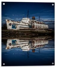 Reflections from the Duke of Lancaster Ship , Acrylic Print
