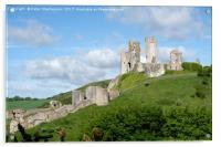 Corfe Castle, Acrylic Print